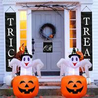 4.6ft Blow up Outdoor Yard Decoration Halloween Inflatable Pumpkin Ghost & Light
