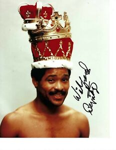 WILFREDO BENITEZ 8X10 SIGNED PHOTO BOXING PICTURE AUTOGRAPHED