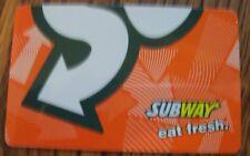 Rare Collectible SUBWAY Sandwiches Orange Gift Card NO CASH VALUE Eat Fresh Nice