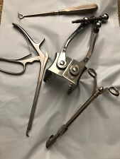 medical supplies lot of 4 surgical instruments Sklar rib separator plus more