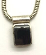 Vintage Oxidized Sterling Silver Black Onyx Inlay Snake Choker - Collar Necklace