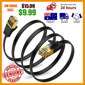 Genuine LAN Ethernet Network Cable CAT7 10Gbps RJ45 1.5m 2m 3m 5m Aus Fast Cabel