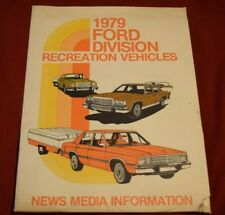 FORD, 1979, Advertising, News Media Info Package, Recreation Vehicle, Dealer