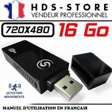CLÉ USB CAMERA ESPION USBCAMU9 + MICRO SD 16 GO 480P DÉTECTION VIDÉO 720X480