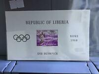 Liberia Olympics Rome 1960 imperf mint never hinged stamp sheet R26855