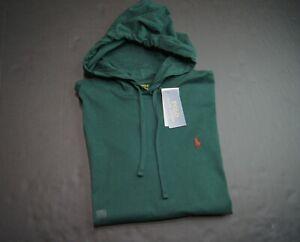 POLO RALPH LAUREN Men's Green Jersey Cotton Hooded T-Shirt NEW NWT
