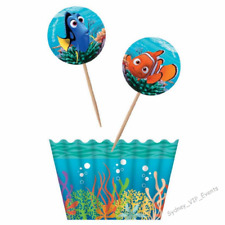 Birthday Party Disney Finding Nemo Dory Cupcake Kit Toppers & Wrappers 24pk Cake