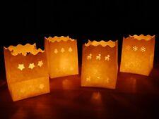 4x2 Luminaria Lichttüten mit Motiven für Winter & Weihnachten | Tisch Dekoration