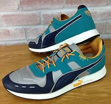 Puma RS-100 Men's Size 12 Running Shoes R-System Teal Orange Silver Navy White