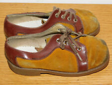 vintage MADE in FRANCE ancien CHAUSSURES taille 25 ENFANT cuir KID shoe LEATHER