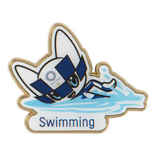 Tokyo 2020 Olympic Games official mascot Pin BadgeSwimming Olympics Japan F/s