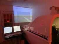 Frasca International Tru-Flite Single/Dual Prop Flight Simulator Cockpit