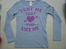 Hippes Longsleeve T-Shirt von C&A, größe 158/164, Farbe grau,pink