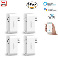 4x Smart Mini WiFi Plug Outlet Switch work with Echo Alexa Google Home Remote US