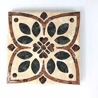 "Lot 32 Square Decorative Tile 4"" Tiles Backsplash Bath Floor Kitchen Brown Green"
