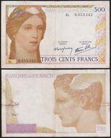 300 FRANCS 1938 FRANCE - Clément Serveau (Cérès) - P87 (G. 0353242)