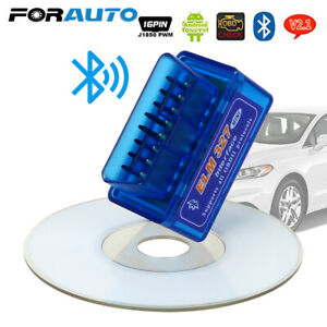 Mini ELM327 V2.1 OBD2 OBDII Bluetooth Adapter Auto Scanner Torque Android EN
