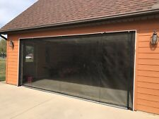 ZIP-ROLL BRAND,  ROLL-UP GARAGE DOOR SCREEN, 9' X 7'-90 DEGREE CORNERS