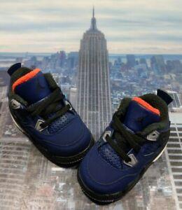 Nike Jordan IV 4 Retro Winter Loyal Blue (TD) Toddler Size 4c Air BQ7670 401 New