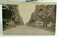 1911 NAPPANEE INDIANA Postcard of East Market Street Horses and Buggies Wagons