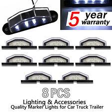 8X 4 LED LICENSE NUMBER PLATE LIGHT LAMP TRUCK CARAVAN TRAILER LORRY BOAT 10-30V