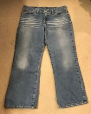 Lucky Brand Womens Cropped Mid Rise Blue Jeans Sz 8 29 Crop Distressed Women