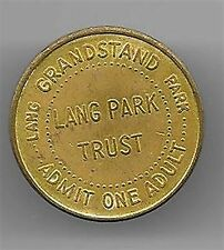 LANG PARK ADMISSION TOKEN ~ GRANDSTAND ~ ADMIT ONE ADULT