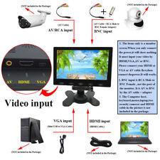 """Ultrathin 7"""" LCD CCTV Monitor HD PC Screen USB 5V/2A AV/RCA/VGA/BNC/HDMI1080p"""