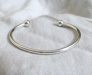 Childs Torque Bracelet - Sterling Silver 925 Bangle Baby Girl Boy Christening