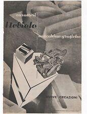 Pubblicità epoca MACCHINE GRAFICHE NEBIOLO advert werbung publicitè reklame