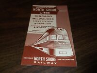 FEBRUARY 1958 CNS&M NORTH SHORE LINE CHICAGO-MUNDELEIN PUBLIC TIMETABLE