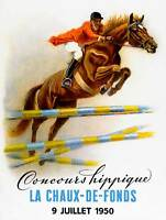 SPORT ADVERT EQUESTRIAN HORSE JUMPING EVENT FRANCE FENCE PRINT POSTER BB9422