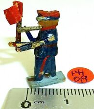 Cheminots Signal Drapeaux Preiser ? Figurines En Bois Années 50 Ans H0 1:87
