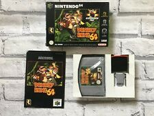 Donkey Kong Nintendo 64 N64 Boxed 100% Complete Near Mint Condition
