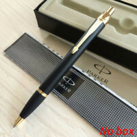 Parker IM Series Ballpoint Pens Matte Black Color Golden Clip 0.5mm Fine Nib