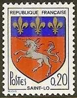 "FRANCE STAMP TIMBRE N° 1510 "" BLASON DE SAINT LO "" NEUF xx LUXE"