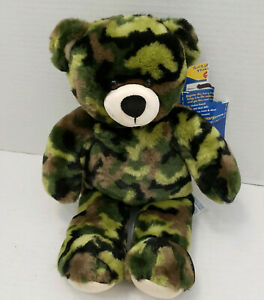 Build a Bear CAMO Green Army Print Cambo Unit Teddy Snuggle Collect Camoflauge