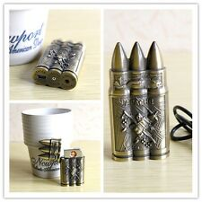 Vintage Bullet Metal USB Electric Lighter Flameless Rechargeable Durable NEWEST