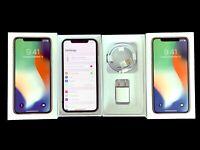 NEW UNUSED Factory Unlocked Apple iPHONE X 64GB AT&T T-MOBILE Verizon Sprint