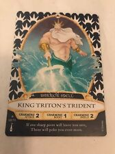 DISNEY SORCERERS MAGIC KINGDOM CARD 08 KING TRITON'S TRIDENT WARRIOR SPELL