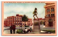 Mid-1900s The Trojan Statue, University of Southern California Postcard