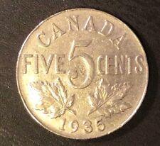 🇨🇦 1935 5¢ - Canadian Nickel - King George V
