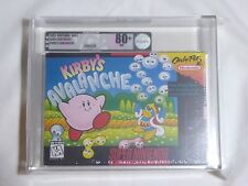 NEW Kirby's Avalanche Super Nintendo Game VGA 80+ NM Silver Graded Sealed SNES
