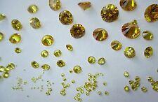 10 CZ gold  2,5 mm Ø und Cubic Zirkonia Brillantschliff synthetischer Edelstein.