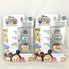 Disney TSUM TSUM 3 Pack Series 2 Mini Toy Figures Dumbo Grumpy Buzz NEW Lot of 2