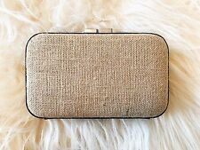 New Mimco Natural Box Style Clutch Bag