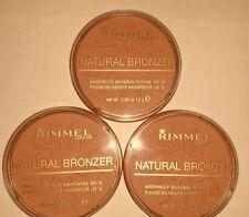 3×RIMMEL NATURAL BRONZER -025-SUN GLOW