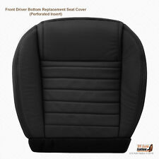 2006 2007 Ford Mustang GT Driver Bottom Seat Cover - Perforated Leather In BLACK
