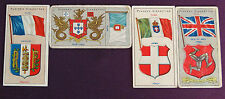 Cigarette Cards John Players & Sons Countries Arms and Flags 1905 Thick Card ju