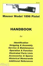 Mauser Broomhandle Model 1896 Pistol Assembly, Disassembly